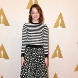 Emma Stone en el almuerzo de los nominados a los Premios Oscar 2015