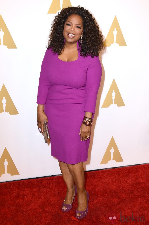 Oprah Winfrey en el almuerzo de los nominados a los Premios Oscar 2015