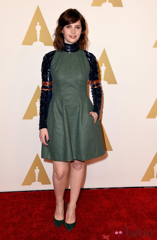 Felicity Jones en el almuerzo de los nominados a los Premios Oscar 2015