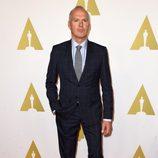 Michael Keaton en el almuerzo de los nominados a los Premios Oscar 2015