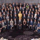 Foto de grupo en el almuerzo de los nominados a los Premios Oscar 2015