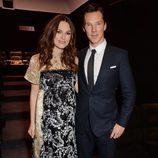 Keira Knightley y Benedict Cumberbatch en una proyección de 'The imitation game' en Londres