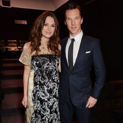 Keira Knightley y Benedict Cumberbatch en una proyección de 'The imitation game' en Londres