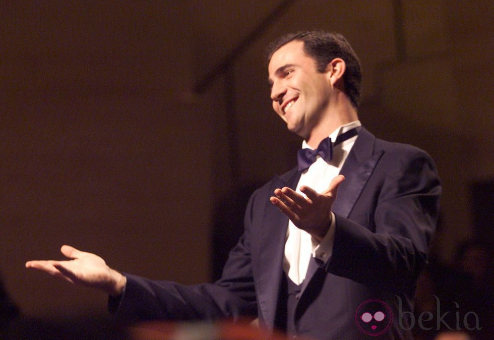 El Rey Felipe celebrando su 32 cumpleaños en los Goya 2000