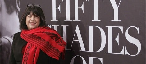E. L. James en el estreno de 'Cincuenta sombras de Grey' en Nueva York