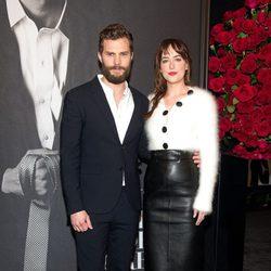 Jamie Dornan y Dakota Johnson en el estreno de 'Cincuenta sombras de Grey' en Nueva York
