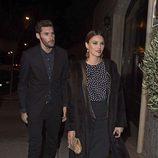 Rudy Fernández y Helen Lindes en la fiesta en honor a Valentino celebrada en Madrid