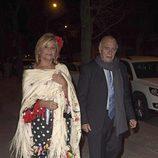 Cari Lapique en la fiesta en honor a Valentino celebrada en Madrid