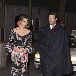 Rafael Medina y Laura Vecino en la fiesta en honor a Valentino celebrada en Madrid