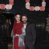 Laura Sánchez y David Ascanio en la fiesta en honor a Valentino celebrada en Madrid