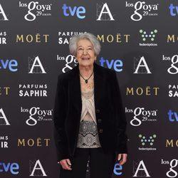 Asunción Balaguer en la alfombra roja de los premios Goya 2015