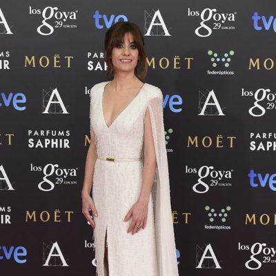 Alexandra Jiménez en la alfombra roja de los Goya 2015