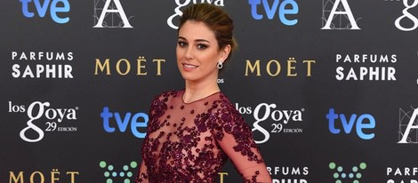 Blanca Suárez en la alfombra roja de los Goya 2015