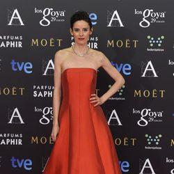 Pilar López de Ayala en la alfombra roja de los Goya 2015