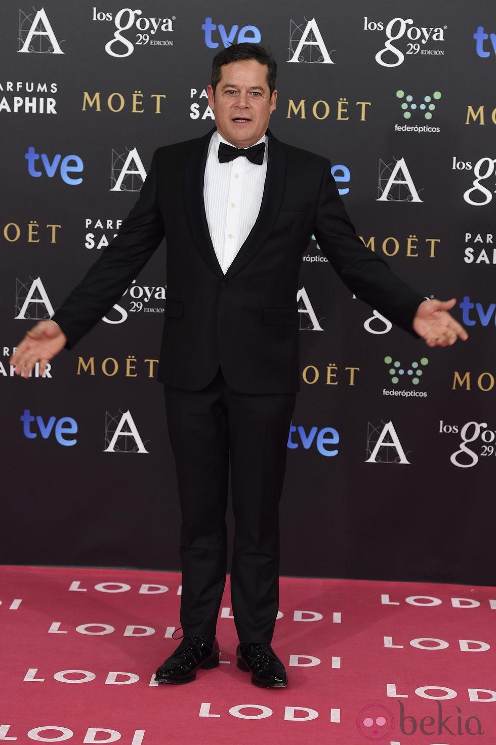 Jorge Sanz en la alfombra roja de los Goya 2015