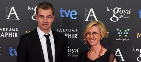 Toni Cantó y Rosa Díez en la alfombra roja de los Goya 2015