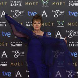 Gemma Cuervo en la alfombra roja de los Premios Goya 2015