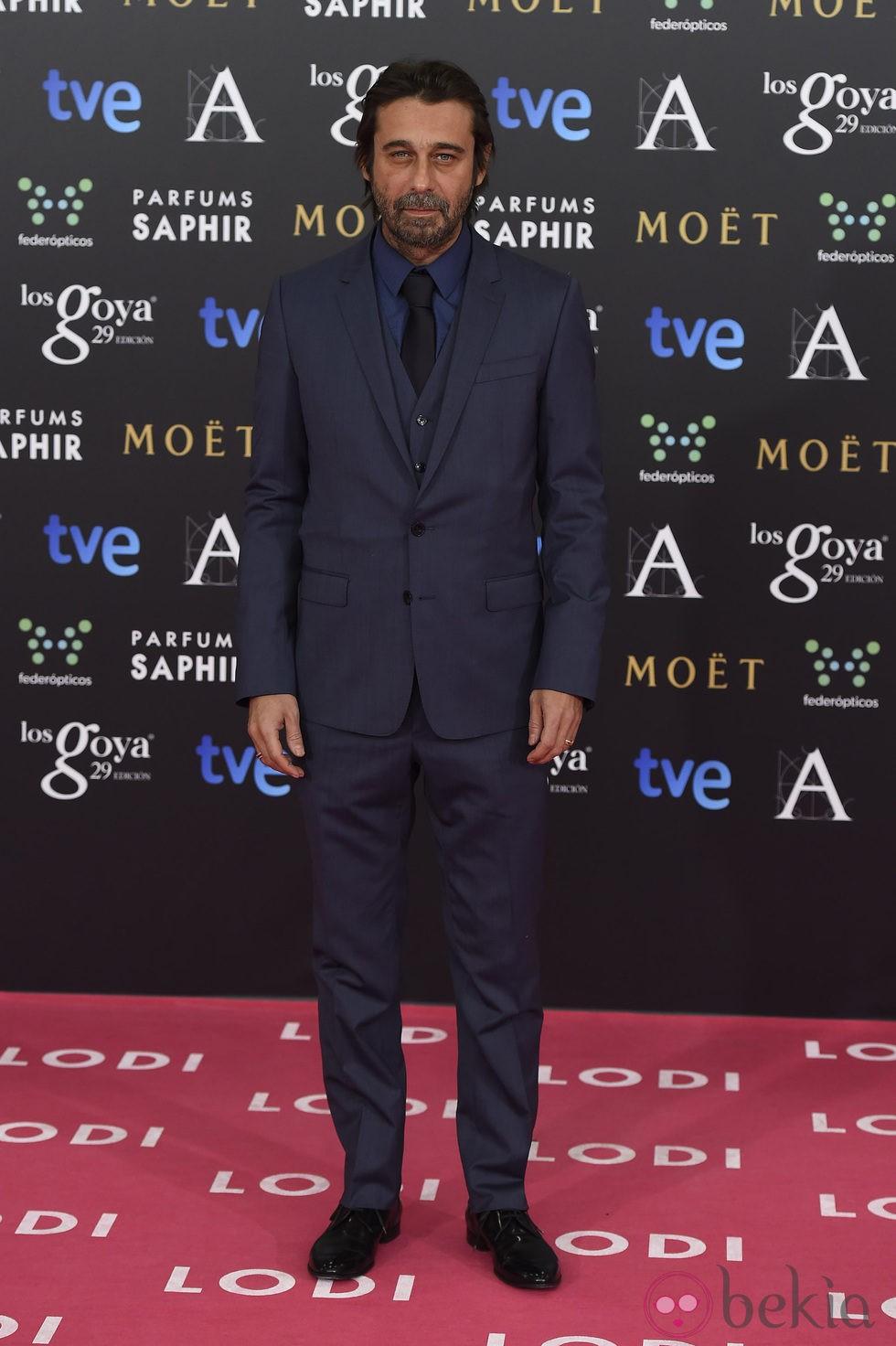 Jordi Mollá en la alfombra rosa de los Goya 2015