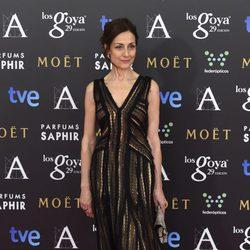 Carmen Elías en la alfombra rosa de los Goya 2015