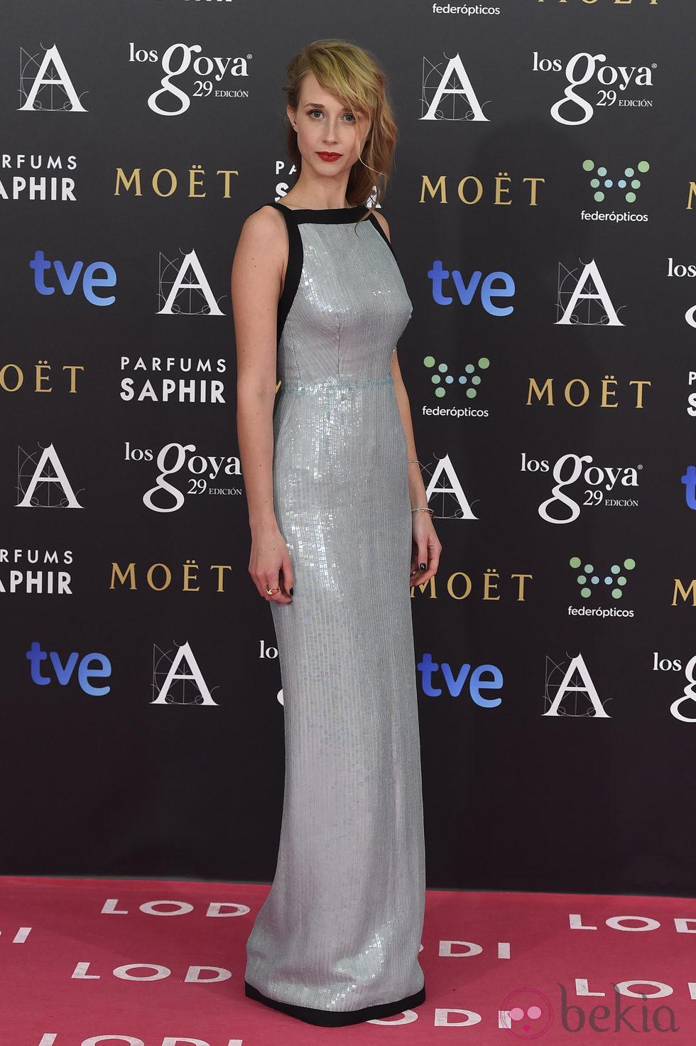 Ingrid García Jonsson en la alfombra rosa de los Goya 2015