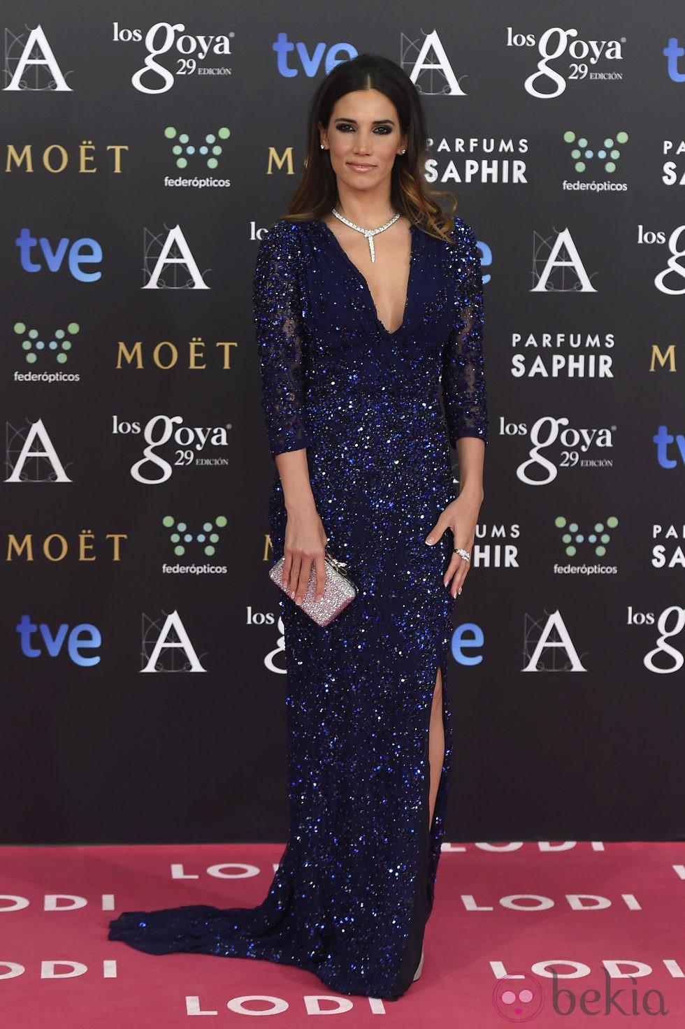 India Martínez en la alfombra roja de los Goya 2015