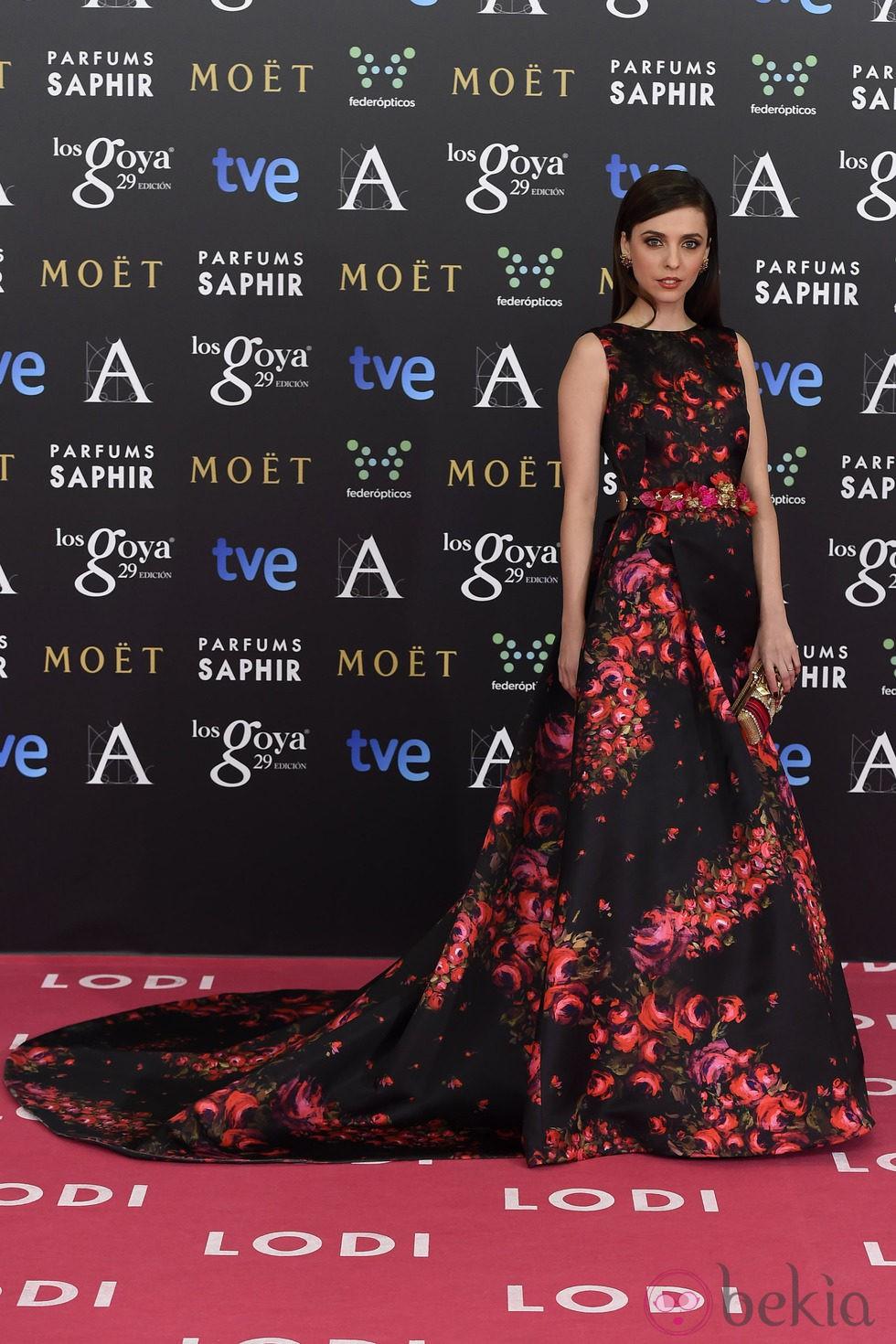 Leticia Dolera en la alfombra roja de los Goya 2015
