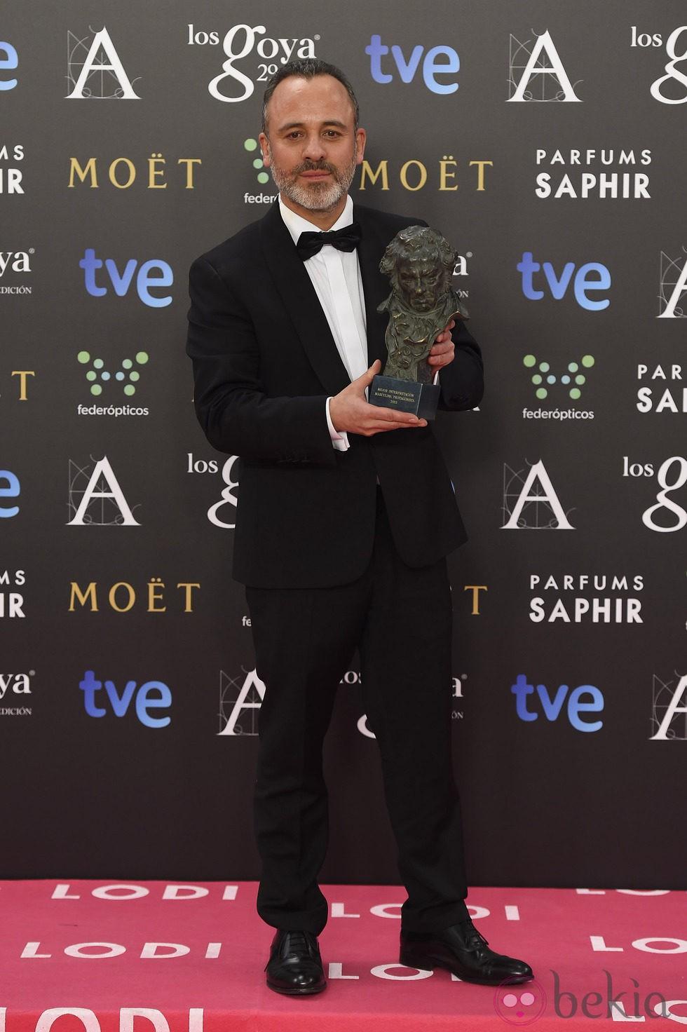 Javier Gutiérrez, Premio Goya 2015 al mejor actor