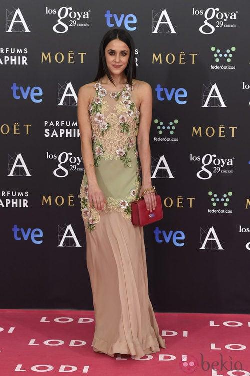 Macarena García con vestido de Blumarine en los Goya 2015