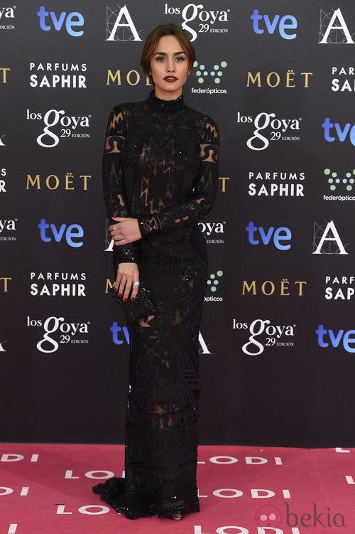 Megan Montaner con un Emilio Pucci en los Premios Goya 2015