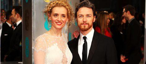 James McAvoy y Anne-Marie Duff en los Premios BAFTA 2015