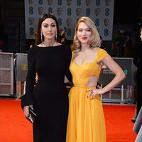 Monica Bellucci y Léa Seydoux en los Premios BAFTA 2015