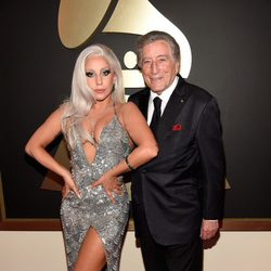 Tony Bennett y Lady Gaga en los Grammy 2015