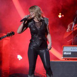 Miranda Lambert en plena actuación en los Grammy 2015