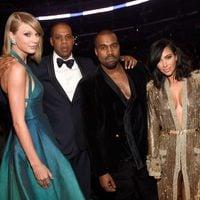 Taylor Swift, Jay Z, Kanye West, Kim Kardashian en los premios Grammy 2015