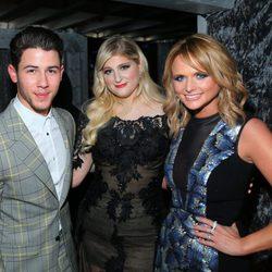 Nick Jonas, Meghan Trainor y Miranda Lambert en los premios Grammy 2015