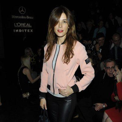 Raquel Sánchez Silva en el front row de Davidelfín en Madrid Fashion Week otoño/invierno 2015/2016