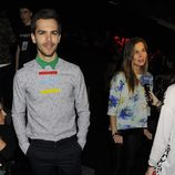 Natalia Sánchez y Marc Clotet en el front row de Davidelfín en Madrid Fashion Week otoño/invierno 2015/2016