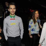 Natalia Sánchez y Marc Clotet en el front row de Davidelfín en Madrid Fashion Week otoño/invierno 2015/2016