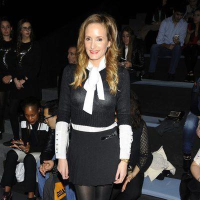 Sandra Ibarra en el front row de Juana Martín en Madrid Fashion Week otoño/invierno 2015/2016