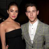 Olivia Culpo y Nick Jonas en los premios Grammy 2015