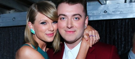 Taylor Swift y Sam Smith en los premios Grammy 2015