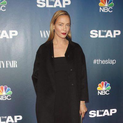 Uma Thurman estrena su paso por quirófano en la premiere de 'The Slap'