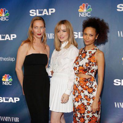 Uma Thurman, Melissa George y Thandie Newton en el estreno de 'The Slap'