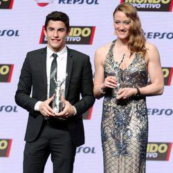 Marc Márquez y Mireia Belmonte en la gala Mundo Deportivo 2015