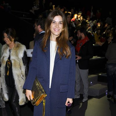 Raquel Sánchez Silva en el front row de Ailanto en la Madrid Fashion Week otoño/invierno 2015/2016