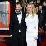Sam Taylor-Johnson y Jamie Dornan en el estreno de 'Cincuenta sombras de Grey' en la Berlinale 2015