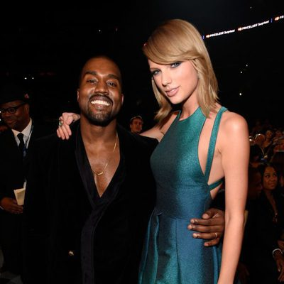 Kanye West y Taylor Swift en los premios Grammy 2015