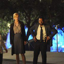 Nicole Kidman y Chiwetel Ejiofor en el rodaje de 'El secreto de sus ojos'