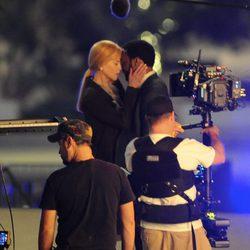 Nicole Kidman y Chiwetel Ejiofor, cómplices en el rodaje de 'El secreto de sus ojos'