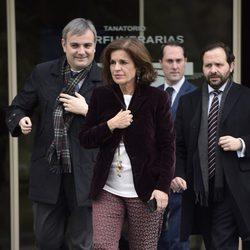 Ana Botella en el tanatorio del padre de Cristina Cifuentes